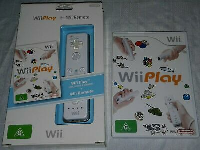 AU39.95 • Buy Nintendo Wii Wii Play Game And Wii Remote In Box