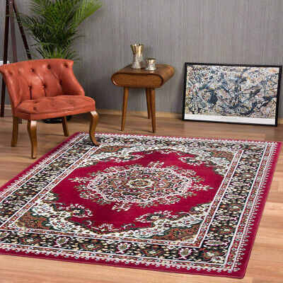 Classic Red Traditional Rug | Small Large Living Room Rugs | Long Hall Runners • 89.95£