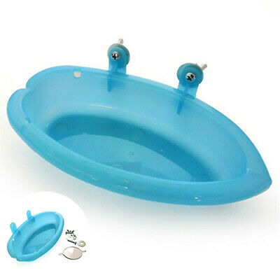 Cage Bird Water Bath Tub Parrots For Pet Bird Hanging Bowl Birdbath Parakeet • 2.50£