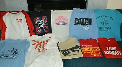 $ CDN161.55 • Buy Vintage T-Shirt LOT Of 10 ALL 80s Screen Stars Tags! Olympics Kuwait UK Rock Tx