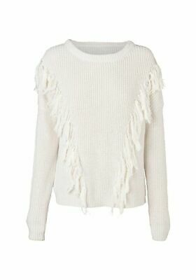 AU60 • Buy Viktoria & Woods KHAKI Coppola Fringed Knit Jumper Sz 0 (6-8)