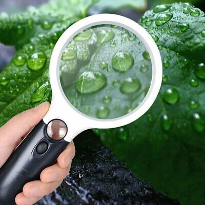 45x Handheld Magnifier Reading Magnifying Glass Jewelry Loupe With 3 LED Light • 6.99£