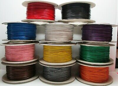 Model Railway Layout Wire Roll 7/0.2mm 1.4A PICK YOUR OWN COLOUR + LENGTH • 2.19£