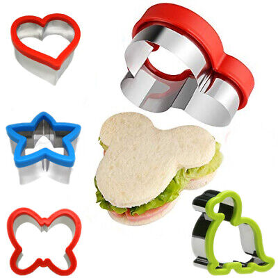 Kids Sandwich Cutter Shapes Cookie Biscuit Baking Stainless Steel Variatons • 7.29£
