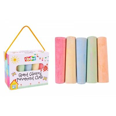 £5.99 • Buy Giant Coloured Pavement Chalk 15 Pieces Children's Outdoor Fun & Rainbow Drawing
