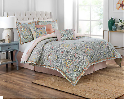 $ CDN315.23 • Buy Waverly Artisanal 4 Piece Reversible Comforter Set -100% Cotton - Queen