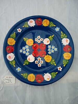 £16 • Buy Blue Roses And Castles Hand Painted Enamel Dish Barge Ware 21cm #01