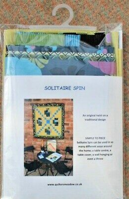 Patchwork Wallhanging Kit - Solitaire Spin -  Ideal Christmas Present • 24.95£