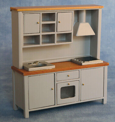 1/12 Dolls House Emporium Shaker Style All-In-One Kitchen System Grey/Pine 9343 • 31.95£