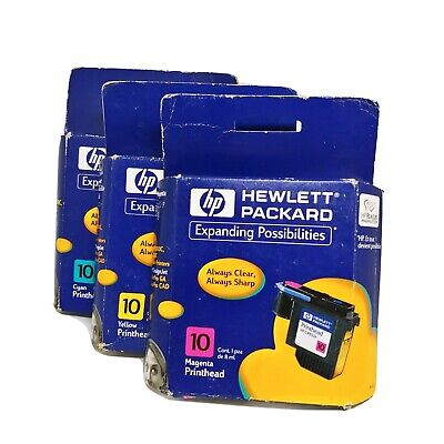 $16.98 • Buy HP 10 Printer Ink Cartridge Color Magenta Cyan Yellow C4843a 2000c 2500c Lot