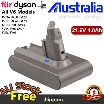 AU30.95 • Buy Battery For Dyson Absolute V6 DC58 DC59 DC61 DC62 D72 DC74 BC683 Animal Absolute