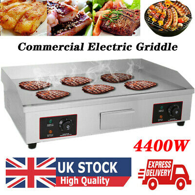 4400W Large Commercial Electric Griddle Hotplate 73 Cm Flat BBQ Grill UK Plug • 139.86£