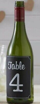 £3.50 • Buy TABLE NUMBERS 1-12 Chalkboard Bottle Stickers Decorations For Weddings, Parties