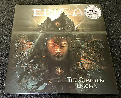 Epica-the Quantum Enigma-2014 2lp Clear Vinyl-300 Only-nightwish-new & Sealed • 47.99£