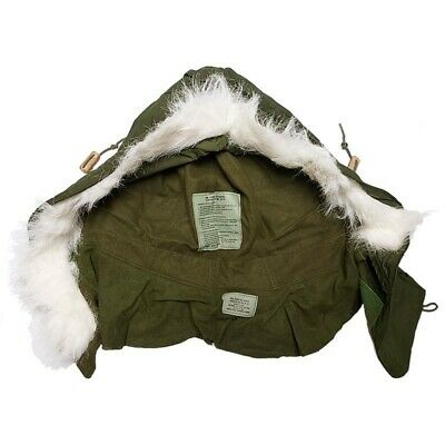 $23.99 • Buy Used GI M-65 Extreme Cold Weather Fishtail Hood 65%Cotton 35%Nylon Made In USA
