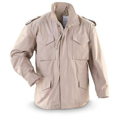 $29.99 • Buy Men's M-65 Field Jacket, GI Style, 100% Cotton, Khaki, Stained, Made In USA, M65