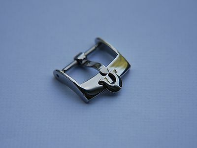 18mm Omega Stainless Steel Watch Strap Buckle, Will Fit 20mm Strap • 12.75£
