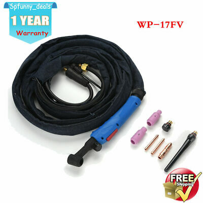 £38.55 • Buy Welder 3.7m WP-17FV Air-Cooled TIG Welding Rubber Torch Flexible With Valve 220A