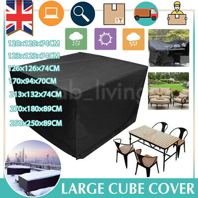 Garden Patio Furniture Set Cover Covers Outdoor Rattan Table Cube Waterproof  • 17.99£