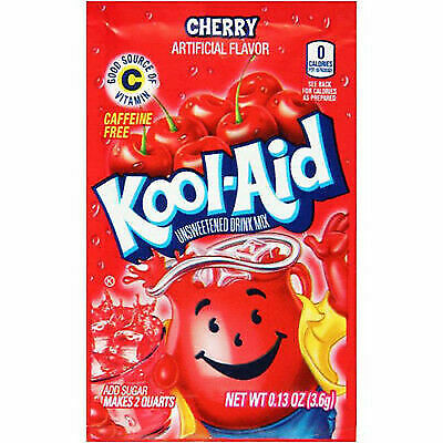 Kool Aid Cherry Flavour Drink Sachets - Rare Us Import - 3.6g - Uk Seller • 6.99£