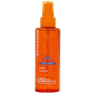 Lancaster Sun Beauty Dry Oil Fast Tan Optimiser For Body SPF50 150ml • 14.03£