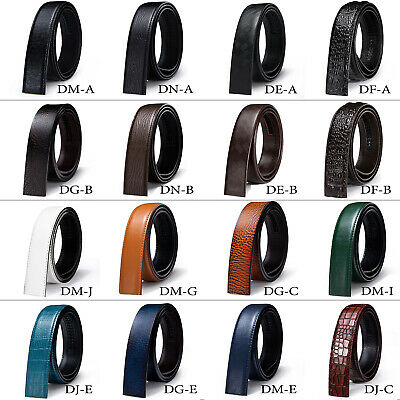 $12.74 • Buy DBG Leather Mens Replacement Belts NO Buckle Ratchet Adjustable Black Brown Tan
