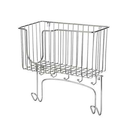 NEW Metal Wall Mount Ironing Board Holder With Small Storage Basket UK J9L7 • 9.99£