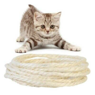 3/5M Sisal Rope For Cats Scratching Post Toys DIY Cat Scratch Board • 3.99£