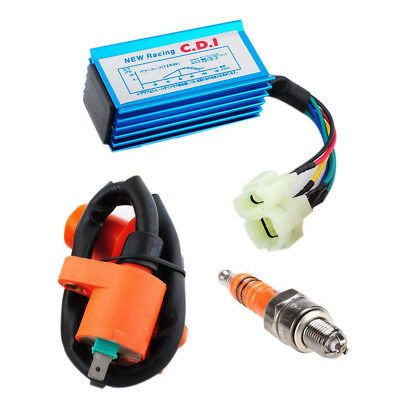 $11.83 • Buy Racing Ignition Coil+Spark Plug+CDI Box Fits GY6 50cc-150cc Sctooer 4-Stroke USA