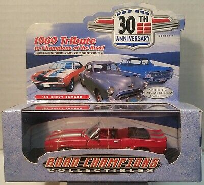 $8.95 • Buy Road Champs 1969 RS SS CAMARO Convertible Red & Black W/ Display Case 1/43 New