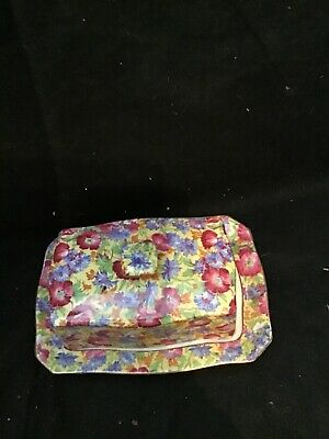 $ CDN94.94 • Buy Vintage Royal Winton Grimwades Chintz Royalty Ascot Rectangular Cheese Holder