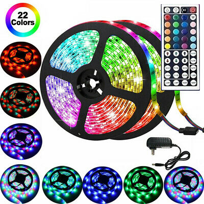 $18.80 • Buy 33FT Flexible Strip Light RGB LED SMD Remote Fairy Lights Room TV Party Bar Lot