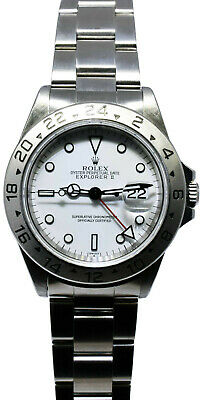 $ CDN9442.27 • Buy Rolex Explorer II Stainless Steel White Dial Mens 40mm Automatic Watch A 16570