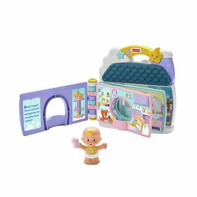 £9 • Buy Fisher-Price Little People Baby's Day Story Book & Play Set With Baby Figure