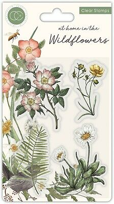 New Craft Consortium Clear Stamps At Home In The Wildflowers - Flora  • 6£