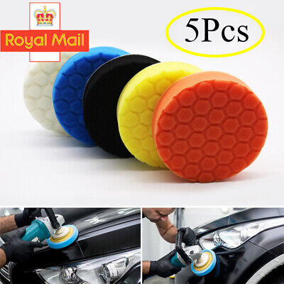 5PCS 6''  Car Polishing Heads Mop Pads Sponge Soft Foam Buffing UK • 5.38£