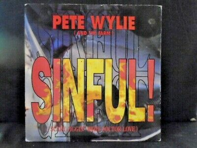 Pete Wylie [ And The Farm ]   Sinful!   Ex+ Cond.in Pic Sl. • 1.95£