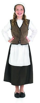 $20.83 • Buy Girls Tudor Medieval Maid Costume Complete Outfit Servant  New Ages 4-6-8-10-12