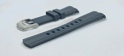 20mm Rubber Strap Black / Blue Watch Strap For Omega Seamaster 300. • 35.95£