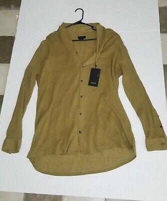 $18 • Buy Zara Women Relax Fit Long Sleve Shirt. Sz (LARGE)
