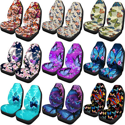 $36.99 • Buy Unique Butterfly Univesal Car Seat Covers For Women Auto Accessories 2 Front Set