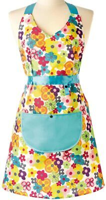 Vigar Rococco Floral Apron With Pocket Cooking Baking Kitchen Vintage Ladies • 7.99£