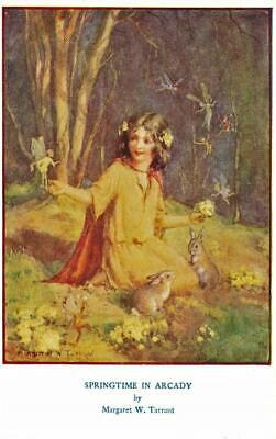 Early MARGARET TARRANT Springtime In Arcady  Children's  Fairy Fantasy  Postcard • 4£