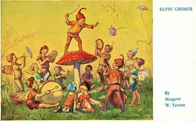 Early MARGARET TARRANT Elfin Chorus  Children's  Fairy Fantasy  Postcard • 4£