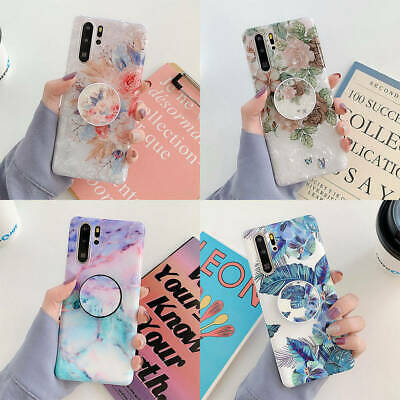 $ CDN6.65 • Buy For Samsung Galaxy S8 S10 Plus Note 9 10 Marble Flower Holder Silicone TPU Case