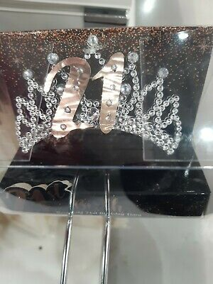 21st Tiaras Comes In A Box  Rose Gold And Silver.  18th/21st/30th/40th/50th/60th • 7.99£
