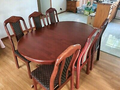 AU200 • Buy Extendable Wooden 6 Seater Dining Table