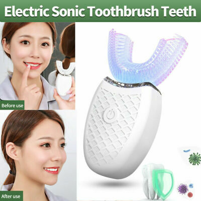 AU32.75 • Buy 360°Automatic Electric Ultrasonic Toothbrush Hands-Free Brushing Rechargeable