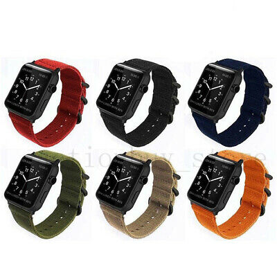AU13.99 • Buy Woven Nylon Sport Loop Band Strap For IWatch Apple Watch Series 12 3 4 5 6 38-44