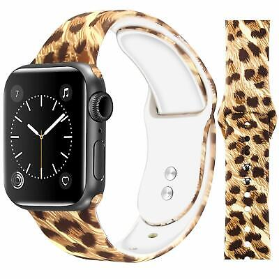 AU11.99 • Buy Women Leopard Silicone Sport Band For Apple Watch 38 40 42 44mm Iwatch 4 3 2 5 6